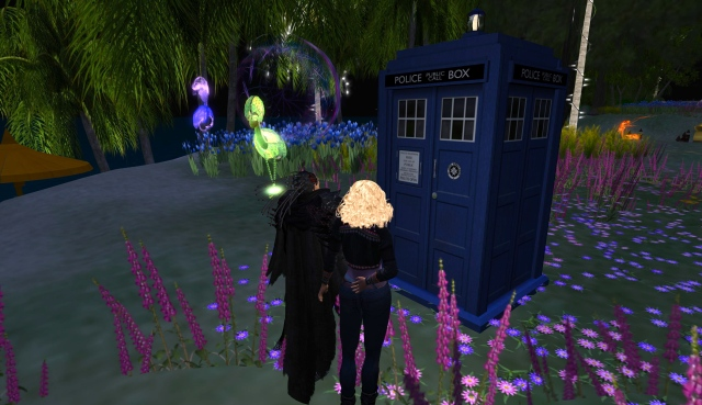 Emperor Nobilis and his TARDIS with Karima Rose
