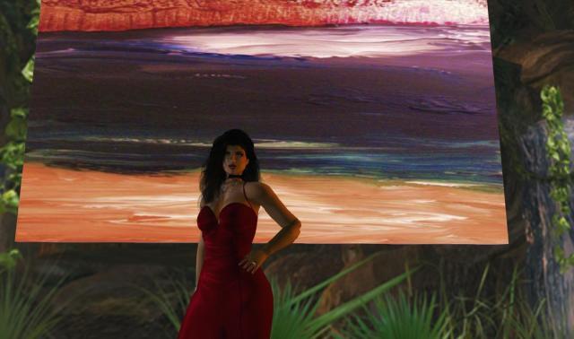 "Sangfroid Sea"""" image by Malana Claringbould  photo by Nat"