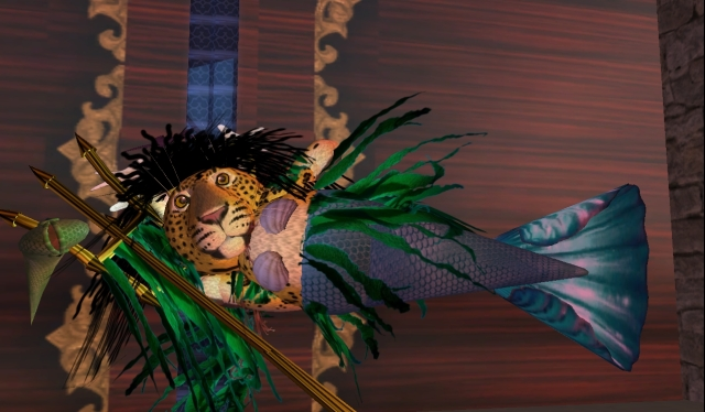 Even leopards have mermaid fantasies