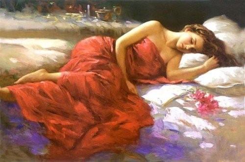 MODERN-Abstract-ART-OIL-PAINTING-On-CANVAS-Sleeping-beauty-wall-decorate-free-shipping