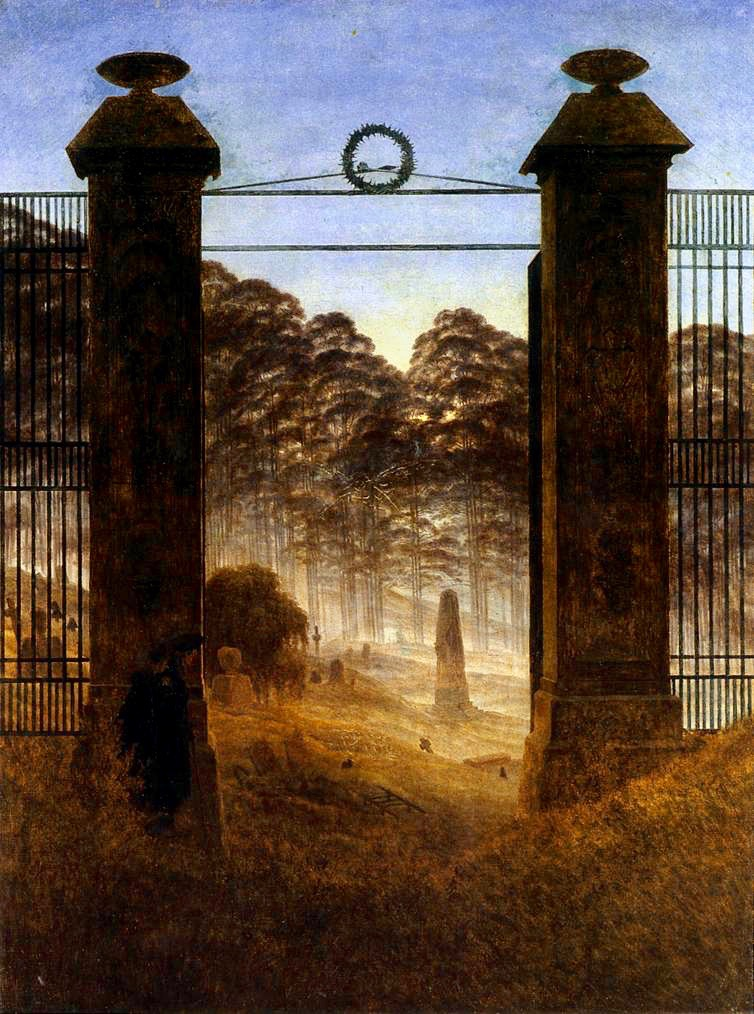 Caspar_David_Friedrich_-_The_Cemetery_Entrance_-_WGA08275 2